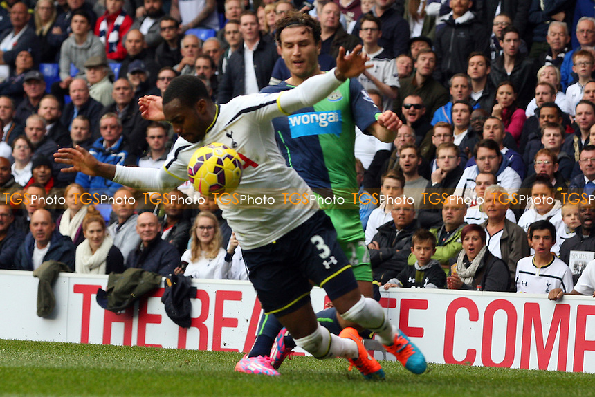 Daryl Janmaat of Newcastle United and Danny Rose of Tottenham Hotspur - Tottenham Hotspur vs Newcastle United - Barclays Premier League action at the White Hart Lane Stadium on 26/10/2014 - MANDATORY CREDIT: Dave Simpson/TGSPHOTO - Self billing applies where appropriate - 0845 094 6026 - contact@tgsphoto.co.uk - NO UNPAID USE