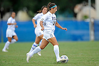 2 October 2011:  FIU midfielder Victoria Miliucci (18) moves the ball upfield in the first half as the FIU Golden Panthers defeated the University of South Alabama Jaguars, 2-0, at University Park Stadium in Miami, Florida.