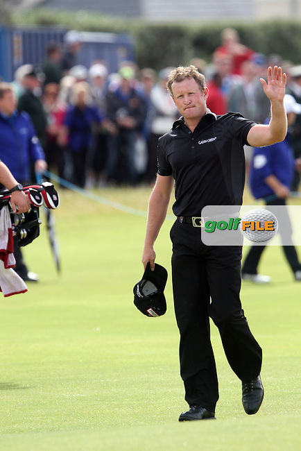 Jamie Donaldson (WAL) on the 18th on Day 4 of the 2012 Irish Open at Royal Portrush Golf Club, Portrush, Co.Antrim, 1/7/12...(Photo Jenny Matthews/www.golffile.ie)