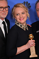Elisabeth Moss at the 75th Annual Golden Globe Awards at the Beverly Hilton Hotel, Beverly Hills, USA 07 Jan. 2018<br /> Picture: Paul Smith/Featureflash/SilverHub 0208 004 5359 sales@silverhubmedia.com