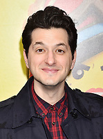 WESTWOOD, CA - FEBRUARY 02: Ben Schwartz attends the Premiere Of Warner Bros. Pictures' 'The Lego Movie 2: The Second Part' at Regency Village Theatre on February 2, 2019 in Westwood, California.<br /> CAP/ROT/TM<br /> ©TM/ROT/Capital Pictures