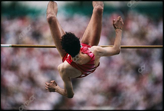 High jump, men, Artur Partyka (Poland) silver. Summer Olympics, Atlanta, Georgia, USA, July 1996