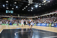 GB's Devan Bailey break free during the EuroBasket 2015 2nd Qualifying Round Great Britain v Bosnia & Herzegovina (Euro Basket 2nd Qualifying Round) at Copper Box Arena in London. - 13/08/2014