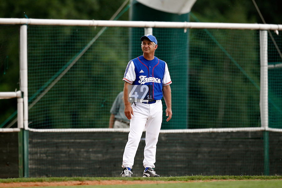 22 June 2011: Guillaume Coste is seen during AIST Alumni 5-3 win over France, at the 2011 Prague Baseball Week, in Prague, Czech Republic.