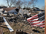 Destruction from Superstorm Sandy on Brook Avenue in Union Beach, New Jersey.  Photo By Bill Denver
