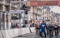 Elia Viviani (ITA/QuickStep Floors) wins the bunch sprint<br /> <br /> Driedaagse Brugge-De Panne 2018<br /> Bruges - De Panne (202km)