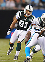 DUSTIN KELLER, of the New York Jets in action during the Jets game against the Carolina Panthers  at Bank of America Stadium in Charlotte, N.C.  on August 21, 2010.  The Jets beat the Panthters 9-3 in the second week of preseason games...