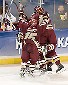 Joe Rooney, Stephen Gionta, Matt Greene (Tim Filangieri) - The Boston College Eagles defeated the Boston University Terriers 5-0 on Saturday, March 25, 2006, in the Northeast Regional Final at the DCU Center in Worcester, MA.