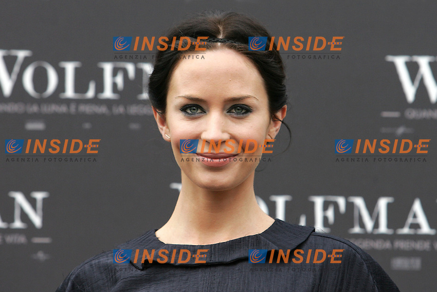 EMILY BLUNT.Roma 27/01/2010 Photocall of the film Wolfman. Casa del Cinema - Rome .Photo Samantha Zucchi Insidefoto