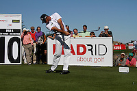 Alvaro Quiros (ESP) tees off on the 10th tee during Sunday's Final Round of the Bankia Madrid Masters at El Encin Golf Hotel, Madrid, Spain, 9th October 2011 (Photo Eoin Clarke/www.golffile.ie)