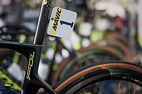 Mathew Haymen's (AUS/Orica-Scott)  defending champion's race number #1<br /> <br /> 115th Paris-Roubaix 2017 (1.UWT)<br /> One Day Race: Compiègne › Roubaix (257km)
