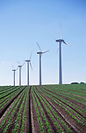 AYBR0B Onshore wind turbines West Somerton Norfolk England
