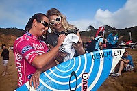 LAYNE BEACHLEY (AUS) Bells Beach, Torquay Victoria, Australia (Wednesday, April 8 2009) -The 2009 Rip Curl Women's Pro Bells Beach started today with the running of Round One in one meter waves along the Rincon section of Bells beach. This years event at the iconic Bells Beach is event number 2 of 8 on the 2009 ASP Women's World Tour and it is the longest running ASP event. Defending Champion and current world champion STEPHANIE GILMORE (AUS) won her heat convincingly with SOFIA MULANOVICH (PER) and LAYNE BEACHLEY (AUS) also posting a strong win. Photo: joliphotos.com