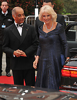 Camilla, Duchess of Cornwall at the Olivier Awards 2019, Royal Albert Hall, Kensington Gore, London, England, UK, on Sunday 07th April 2019.<br /> CAP/CAN<br /> ©CAN/Capital Pictures