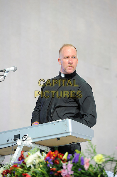 LONDON, ENGLAND - JULY 4: Roddy Bottum of 'Faith No More' performs live at British Summertime, Hyde Park on July 4, 2014 in London, England.<br /> CAP/MAR<br /> &copy; Martin Harris/Capital Pictures