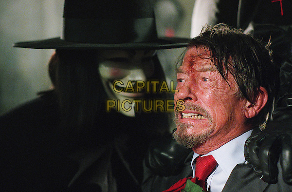 HUGO WEAVING &amp; JOHN HURT<br /> in V for Vendetta<br /> *Editorial Use Only*<br /> www.capitalpictures.com<br /> sales@capitalpictures.com<br /> Supplied by Capital Pictures