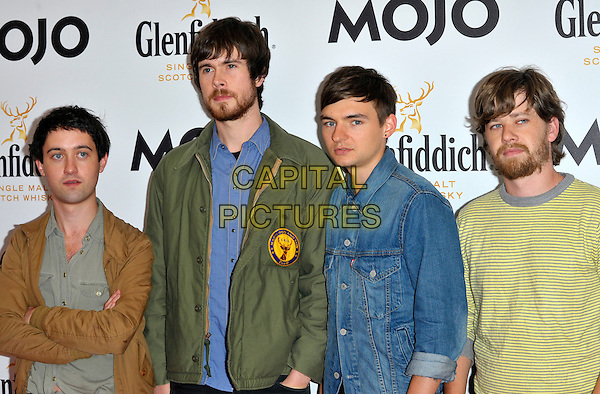 Villagers.Mojo Honours List 2011 Awards Ceremony, held at The Brewery - Arrivals London, England..July 21st, 2011.half length band group brown green blue yellow jacket top beard facial hair Conor J. O'Brien Cormac Curran Danny 'New Shirt and Shoes' Snow James 'JAMES' Byrne Tommy 'Eh?' McLaughlin.CAP/CJ.©Chris Joseph/Capital Pictures.