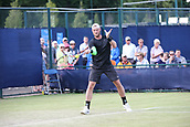June 15th 2017, Nottingham, England; ATP Aegon Nottingham Open Tennis Tournament day 6;  Forehand from Sam Groth of Australia against Brydan Klein of Great Britain