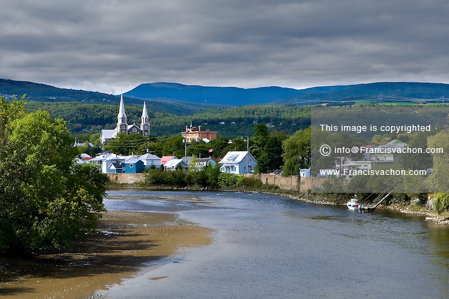 The Riviere Du Gouffre river is pictured in the city of Baie St-Paul September 4, 2008.