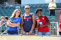 Cary, North Carolina  - Saturday August 19, 2017: Washington Spirit fans prior to a regular season National Women's Soccer League (NWSL) match between the North Carolina Courage and the Washington Spirit at Sahlen's Stadium at WakeMed Soccer Park. North Carolina won the game 2-0.