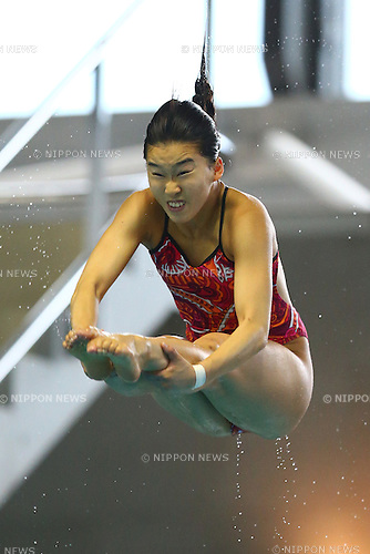 Hana Kaneto,<br /> SEPTEMBER 18, 2015 - Diving : <br /> All Japan Diving Championship 2015<br /> Women's 3m Springboard Preliminary<br /> at Tatsumi International Swimming Center, Tokyo, Japan.<br /> (Photo by Shingo Ito/AFLO SPORT)