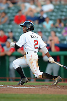 Tri-City ValleyCats second baseman Tony Kemp (2) during a game against the Lowell Spinners on July 6, 2013 at Joseph L. Bruno Stadium in Troy, New York.  Lowell defeated Tri-City 4-3.  (Mike Janes/Four Seam Images)