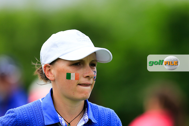 Charlotte Thomas during Sunday Singles matches at the 2016 Curtis cup from Dun Laoghaire Golf Club, Ballyman Rd, Enniskerry, Co. Wicklow, Ireland. 12/06/2016.<br /> Picture Fran Caffrey / Golffile.ie<br /> <br /> All photo usage must carry mandatory copyright credit (&copy; Golffile | Fran Caffrey)