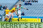 Kieran O'Donovan, Na Gaeil in action against Tadhg Cody, Rathgarogue-Cushingstown during the AIB GAA Football All-Ireland Junior Club Championship Final match between Na Gaeil and Rathgarogue-Cushinstown at Croke Park on Saturday.