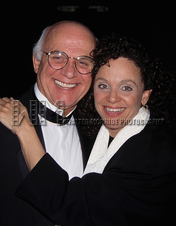 Gavin McLeod and Valerie Harper<br /> Attending the Opening Night Performance of FORUM at the St. James Theatre in New York City.<br /> april 18, 1996