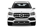 Car photography straight front view of a 2020 Mercedes Benz GLS GLS450 5 Door SUV Front View