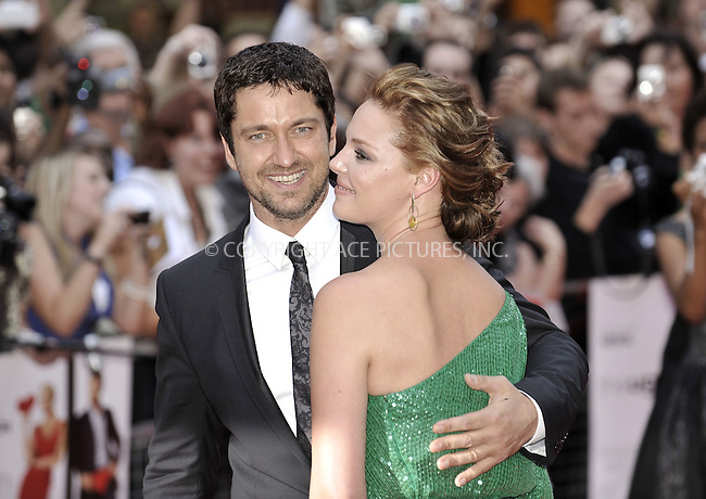 WWW.ACEPIXS.COM . . . . .  ..... . . . . US SALES ONLY . . . . .....August 4 2009, New York City....Actors Gerald Butler and Katherine Heigl at 'The Ugly Truth' film premiere at the Vue West End cinema on August 4, 2009 in London, England....Please byline: FAMOUS-ACE PICTURES... . . . .  ....Ace Pictures, Inc:  ..tel: (212) 243 8787 or (646) 769 0430..e-mail: info@acepixs.com..web: http://www.acepixs.com