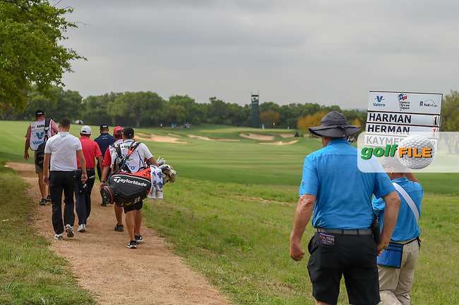 Martin Kaymer (GER) heads down 11 during day 1 of the Valero Texas Open, at the TPC San Antonio Oaks Course, San Antonio, Texas, USA. 4/4/2019.<br /> Picture: Golffile | Ken Murray<br /> <br /> <br /> All photo usage must carry mandatory copyright credit (© Golffile | Ken Murray)