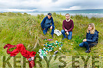 Members of Kerry Natura Site Action Group in Banna Beach showing the BBQ area which is contributing to the destruction of the sand dunes.  <br /> Front right: Martha Farrell (Maherees Conservation Association). Back l to r: Pat Lawlor and Daniel Dowling (Banna Sea Rescue).