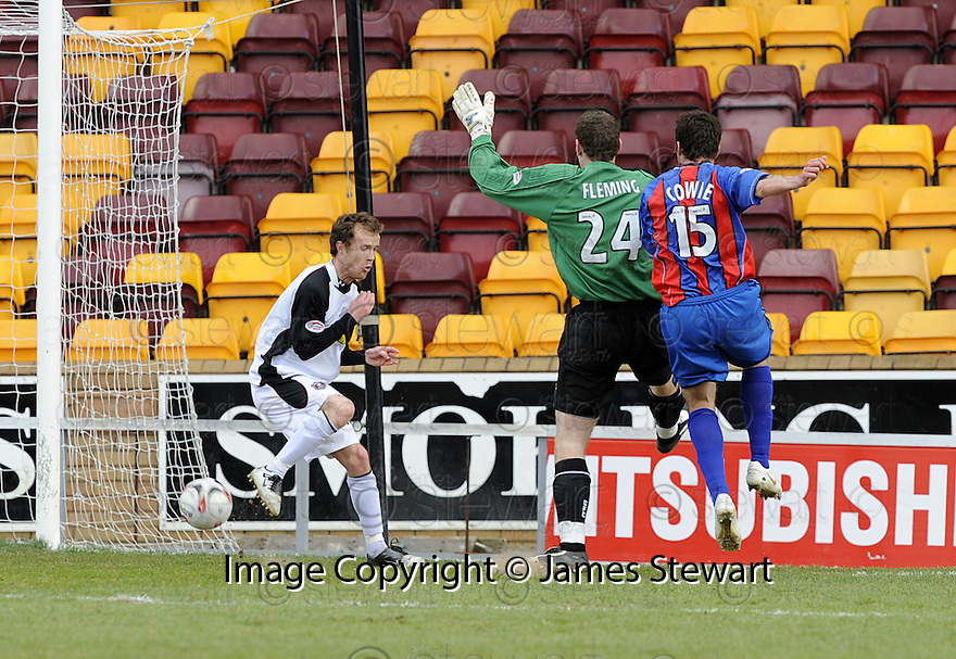 05/04/2008    Copyright Pic: James Stewart.File Name : sct_jspa11_gretna_v_inverness.DON COWIE SCORES CALEY'S SECOND....James Stewart Photo Agency 19 Carronlea Drive, Falkirk. FK2 8DN      Vat Reg No. 607 6932 25.Studio      : +44 (0)1324 611191 .Mobile      : +44 (0)7721 416997.E-mail  :  jim@jspa.co.uk.If you require further information then contact Jim Stewart on any of the numbers above........