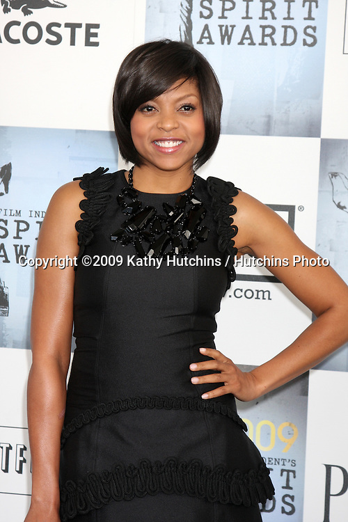 Taraji P. Henson   arriving at the  Film Indpendent's  24th Annual Spirit Awards on the beach in Santa Monica, CA  on.February 21, 2009.©2009 Kathy Hutchins / Hutchins Photo...                .