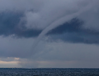 Water spout on Lake Michigan in South Haven July 2014