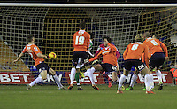 Liam Walsh of Yeovil scores the opening goal during the Sky Bet League 2 match between Luton Town and Yeovil Town at Kenilworth Road, Luton, England on 2 February 2016. Photo by Liam Smith.