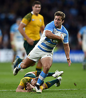 Santiago Cordero of Argentina in possession. Rugby World Cup Semi Final between Argentina v Australia on October 25, 2015 at Twickenham Stadium in London, England. Photo by: Patrick Khachfe / Onside Images