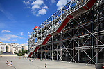 Exterior view of Centre Georges Pompidou. City of Paris. Paris