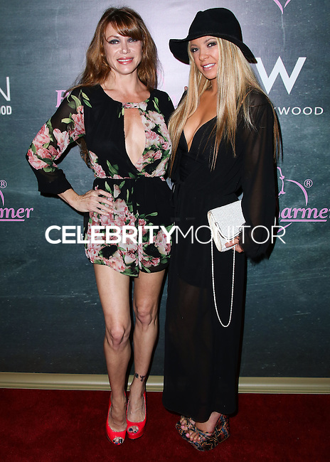 HOLLYWOOD, LOS ANGELES, CA, USA - AUGUST 28: Rebecca Mary, Courtney Hyau arrive at the Benchwarmer Back To School Celebration to Benefit Children of the Night held at Station Hollywood at the W Hotel Hollywood on August 28, 2014 in Hollywood, Los Angeles, California, United States. (Photo by Xavier Collin/Celebrity Monitor)