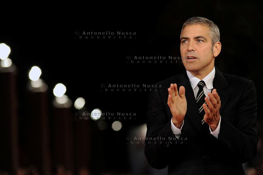 Roma, 17 Ottobre, 2009. George Clooney al festival del cinema di Roma