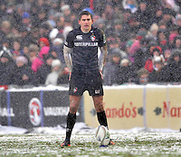 Leicester, England. Toby Flood of Leicester Tigers during the Heineken Cup match between Leicester Tigers and Toulouse at Welford Road on January  20. 2013 in Leicester, England..