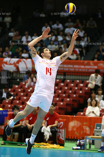Nicolas Le Goff (FRA),<br /> MAY 29, 2016 - Volleyball :<br /> Men's Volleyball World Final Qualification for the Rio de Janeiro Olympics 2016<br /> match between France 2-3 Poland<br /> at Tokyo Metropolitan Gymnasium, Tokyo, Japan.<br /> (Photo by Shingo Ito/AFLO SPORT)