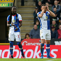 Blackburn Rovers' Elliott Bennett shows his frustration after a chance goes begging<br /> <br /> Photographer David Shipman/CameraSport<br /> <br /> The EFL Sky Bet Championship - Norwich City v Blackburn Rovers - Saturday 11th March 2017 - Carrow Road - Norwich<br /> <br /> World Copyright &copy; 2017 CameraSport. All rights reserved. 43 Linden Ave. Countesthorpe. Leicester. England. LE8 5PG - Tel: +44 (0) 116 277 4147 - admin@camerasport.com - www.camerasport.com