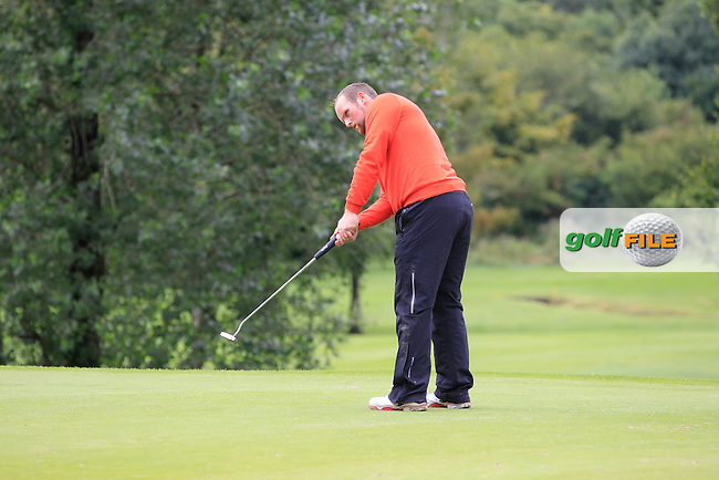 Simon Bryan (Delgany) on the 2nd during round 1 of The Mullingar Scratch Cup in Mullingar Golf Club on Sunday 3rd August 2014.<br /> Picture:  Thos Caffrey / www.golffile.ie