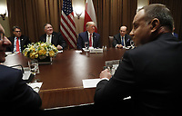Polish President Andrzej Duda (R) and  (far side L-R) US Secretary of Energy Rick Perry, US Secretary of State Mike Pompeo, US President Donald J. Trump and US Secretary of Commerce Wilbur Ross during a luncheon in the cabinet room of the White House in Washington, DC, USA, 12 June 2019. Later in the day President Trump and President Duda will participate in a signing ceremony to increase military to military cooperation including the purchase of F-35 fighter jets and an increased US troop presence in Poland. Credit: Shawn Thew/CNP/AdMedia