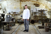 Taigo Lepik, the Chef to the Estonian President Toomas Hendrik Ilves, poses for a portrait in the Cascina Colombara during the annual meeting of the Club des Chefs des Chefs in Livorno Ferraris, Vercelli, Italy, July 18, 2015.<br /> The Club des Chefs des Chefs, which is seen as the world&rsquo;s most exclusive gastronomic society, has extremely strict membership criteria: to be accepted into this highly elite club, you need to be the current personal chef of a head of state. If he or she does not have a personal chef, members can be the executive chef of the venue that hosts official State receptions. One of the society&rsquo;s primary purposes is to promote major culinary traditions and to protect the origins of each national cuisine. The Club des Chefs des Chefs also aims to develop friendship and cooperation between its members, who have similar responsibilities in their respective countries. <br /> The annual meeting of the Club has been hosted this year in the production site of the Italian rice company called Riso Acquerello. <br /> &copy; Giorgio Perottino