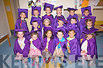 Graduation Day at Valentia Pre-School pictured front l-r; Caoimhe McKenna, Daire McKenna, Grace Ware, Thomas Curran, Kane Sheehan, Dervlan Healy, middle l-r; Naoise Sugrue, Orla O'Shea, Adam Quigley, Kevin O'Connor, Niamh Dennehy, back l-r; Cillian Sugrue, Rian O'Shea, Jake Curran, Michael O'Sullivan, Sean Lynch & Junior Kidd.