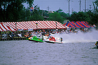 Frame 1: Wyatt Nelson (#39) and Eric Johnson lead away from the start.  (SST-120 class) Bay City, MI 1998
