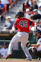 April 14, 2010:  Darnell McDonald of the Pawtucket Red Sox at bat during a game at Coca-Cola Field in Buffalo, New York.  Pawtucket is the Triple-A International League affiliate of the Boston Red Sox.  Photo By Mike Janes/Four Seam Images